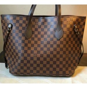Neverfull bag with purse full package size MM Lnsi